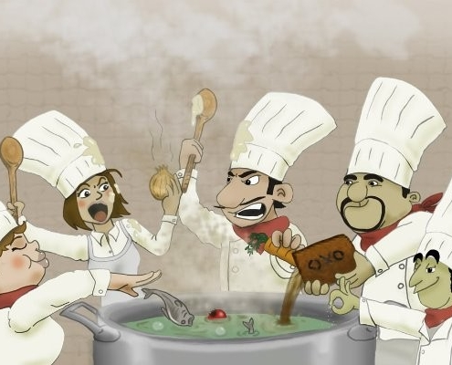 For mange kokke fordærver maden